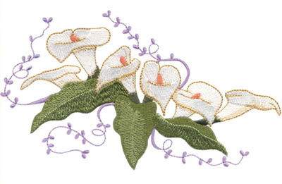 Lovely Lilleys Embroidery Design